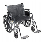 "Drive Medical Sentra EC Heavy Duty Wheelchair, Detachable Desk Arms, Swing away Footrests, 22"" Seat"