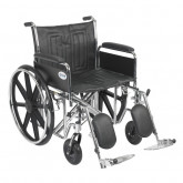 "Drive Medical Sentra EC Heavy Duty Wheelchair, Detachable Full Arms, Elevating Leg Rests, 22"" Seat"
