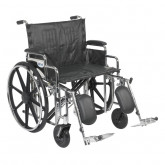 "Drive Medical Sentra Extra Heavy Duty Wheelchair, Detachable Desk Arms, Elevating Leg Rests, 24""Seat"