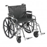 "Drive Medical Sentra Extra Heavy Duty Wheelchair, Detachable Desk Arms, Swing away Footrests, 24"" Seat"