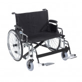 "Drive Medical Sentra EC Heavy Duty Extra Wide Wheelchair, Detachable Desk Arms, Swing away Footrests, 26"" Seat"