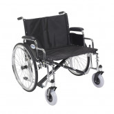 "Drive Medical Sentra EC Heavy Duty Extra Wide Wheelchair, Detachable Desk Arms, 26"" Seat"
