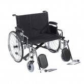 "Drive Medical Sentra EC Heavy Duty Extra Wide Wheelchair, Detachable Desk Arms, Elevating Leg Rests, 28"" Seat"