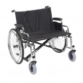 "Drive Medical Sentra EC Heavy Duty Extra Wide Wheelchair, Detachable Desk Arms, 28"" Seat"