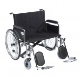 "Drive Medical Sentra EC Heavy Duty Extra Wide Wheelchair, Detachable Full Arms, Elevating Leg Rests, 28"" Seat"