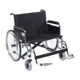 "Drive Medical Sentra EC Heavy Duty Extra Wide Wheelchair, Detachable Full Arms, Swing away Footrests, 28"" Seat"