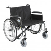 "Drive Medical Sentra EC Heavy Duty Extra Wide Wheelchair, Detachable Full Arms, 28"" Seat"
