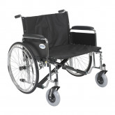 "Drive Medical Sentra EC Heavy Duty Extra Wide Wheelchair, Detachable Full Arms, 30"" Seat"
