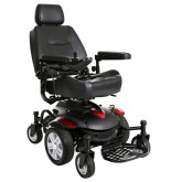 "Drive Medical Titan AXS Mid-Wheel Power Wheelchair, 20""x18"" Captain Seat"