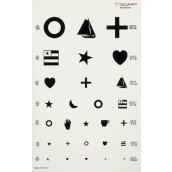 Graham-Field Health Illuminated Eye Chart Kindergarten 20' Distance