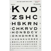 Graham-Field Health Illuminated Eye Chart-Snellen 10' Distance