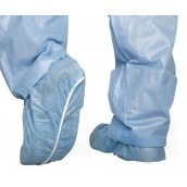 MEDLINE Spunbond Polypropylene Smooth Bottom Shoe Covers,Blue,Regular/Large 300 EA / CS