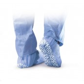 MEDLINE Non-Skid Polypropylene Shoe Covers,Blue,Regular/Large 100 EA / BX