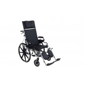"Drive Medical Viper Plus GT Full Reclining Wheelchair, Detachable Desk Arms, 16"" Seat"