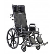"Drive Medical Sentra Reclining Wheelchair, Detachable Desk Arms, 22"" Seat"